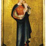 Maria Magdalena met de torens in haar mantel en een dochter in haar armen, 1390